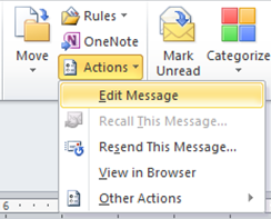 Edit Outlook Email Message2
